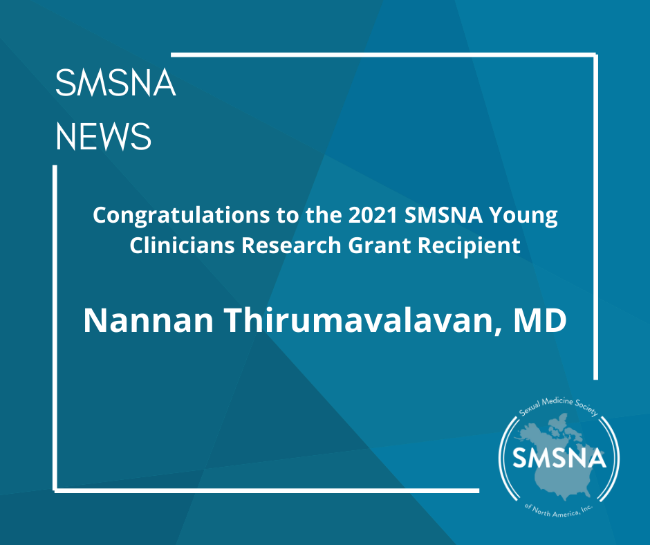 2021 SMSNA Young Clinicians Research Grant Recipient Announced